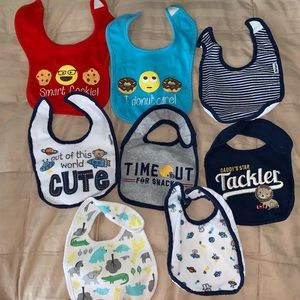 Lot of 8 bibs - used and NWOT